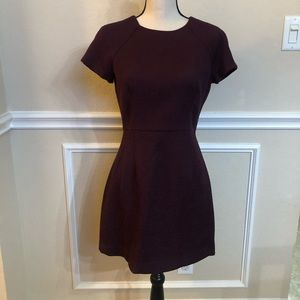 Banana Republic Short Sleeve Dress Maroon Size 6P